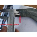 Ніж фрези грунтофрези підсилений вага 0,5кг - правий, ножи для почвофрезы 500гр.