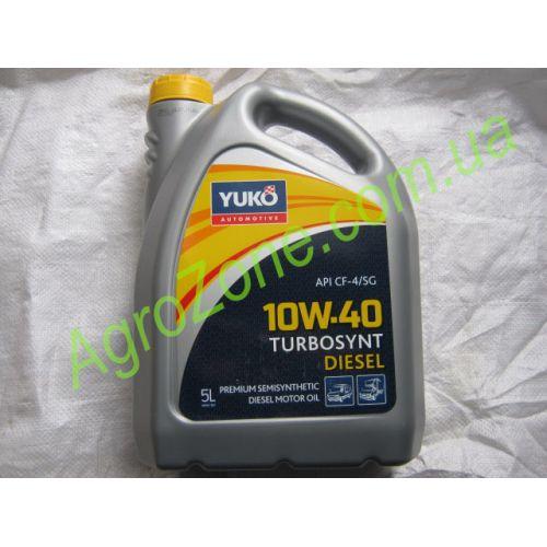 Масло моторне (олива) Юкойл 10W-40 TURBOSYNT дизель 5 л.